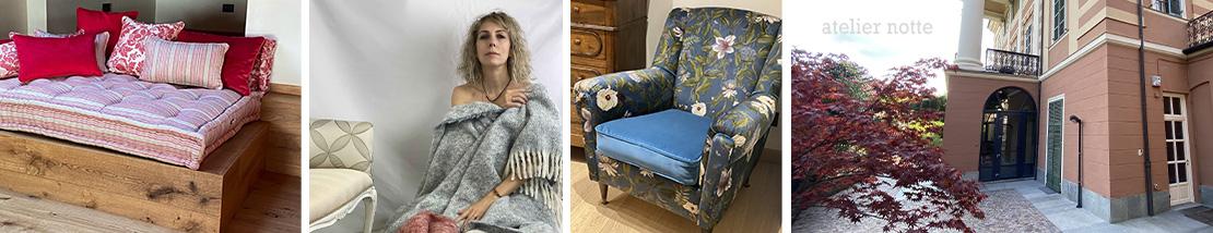 produzione materassi e tappezzeria, tessuti d'arredo, tendaggi, arredo d'interni, atelier notte druento torino italy